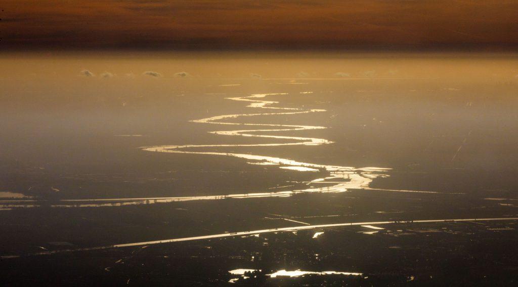 De Lek, vanaf Nieuwegein, zo'n beetje tot aan de Noordzee