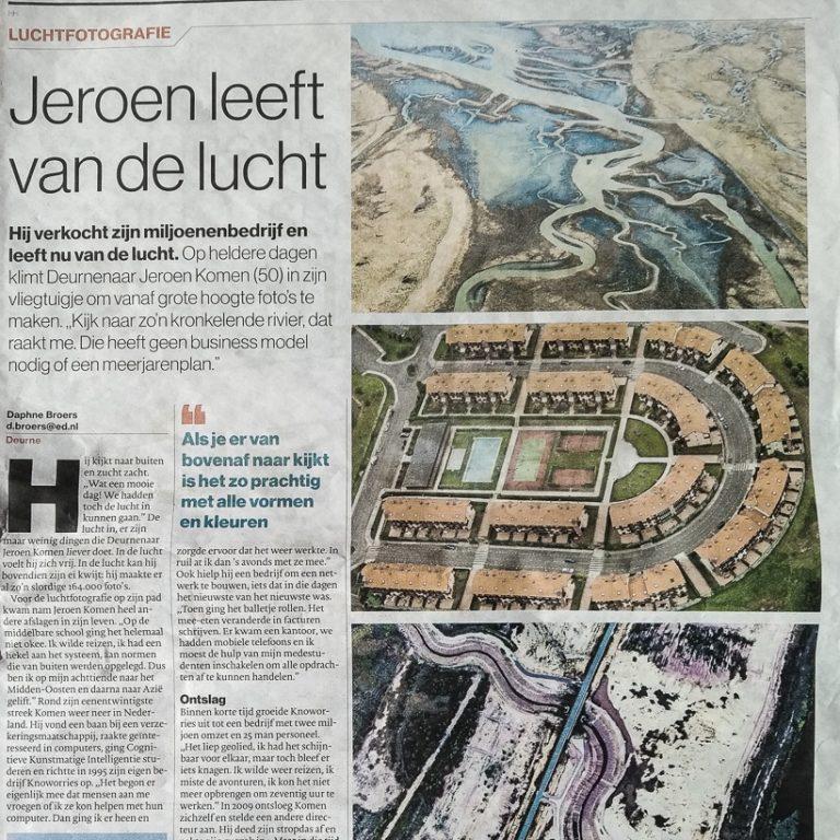 20190209 Eindhovens Dagblad interviewt Jeroen Komen