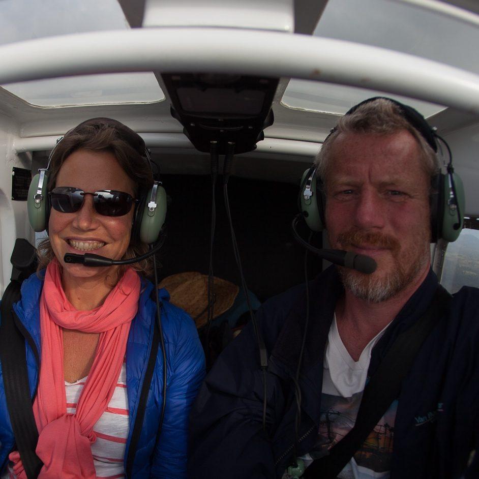Esther Jacobs vliegt met Jeroen Komen